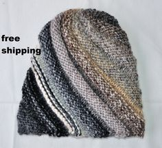 Hat women in wool and acrylic knitted by hand accessory of winter varied colors free shipping (25.00 EUR) by lamainlefil