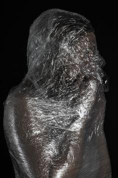 Tension ©ShannonGeorgiaPhotography clingfilm claustrophobia fetishism isolated studio photography Photographer