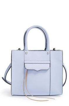 Free shipping and returns on Rebecca Minkoff 'Medium MAB' Tote at Nordstrom.com. Rebecca Minkoff's iconic Morning After Bag—updated here in a fresh pastel blue—features a signature flap and dangling zip-pulls adorning crosshatch-textured Saffiano leather.