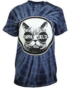 Kappa Delta Cat Tie Dye Shirt by Adam Block Design | Custom Greek Apparel & Sorority Clothes | www.adamblockdesign.com