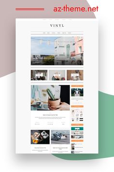 You are looking for a WordPress Theme, beautiful, easy to install and use? AZ-Theme would like to introduce you to one of our themes: Vinyl - A Lifestyle WordPress Theme Blog This WordPress Theme is designed with a variety of blog layout styles that allow you to easily choose a layout style that suits your style. A slide of selected posts from a category or list of posts.