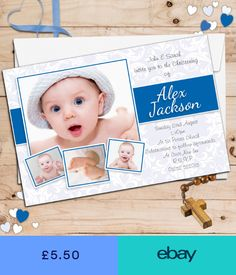 Christening Invitation Blank Template for Baby Boy Beautiful Dotted Blue Free Printable Baptism & Christening Gallery - Invitation Card