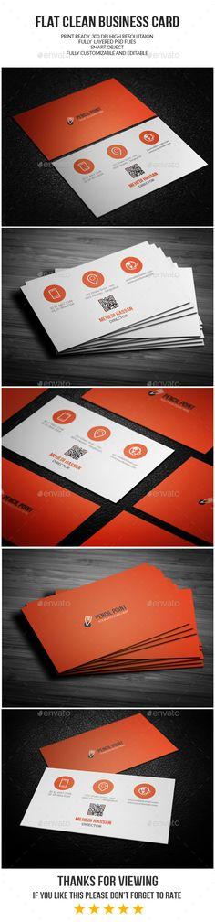 Flat Business Card Template PSD #design Download: http://graphicriver.net/item/flat-business-card/14179763?ref=ksioks