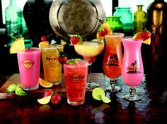 Hard Rock Café recipes made here today: Tropical Pineapple Press, Watermelon Press and Blueberry Press