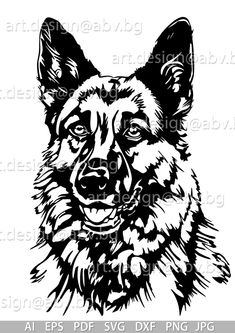 Native Drawings, Dog Drawings, Dog Stencil, Animal Stencil, Vector Dog, Media Mix, Dog Outline, Animal Templates, What Kind Of Dog