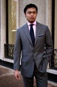 Fathers - Grey suits, ivory shirts, navy ties and pocket squares ...