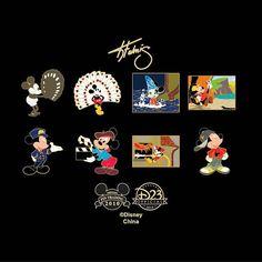 Disney art by Keith Fulmis Disney pins