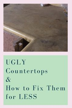 Ugly countertops can be fixed for less than you may think. In today's video, we discuss several solutions to repair your ugly countertops. Our suggestions of how to fix countertops are DIY projects that you can do in a day or weekend. You can repair countertops or replace them with laminate countertops, concrete countertops, granite countertops, butcher block countertops, and quartz countertops. Let PinkToolGirl help you today find a solution for your kitchen that is right for your budget. Butcher Block Countertops, Laminate Countertops, Concrete Countertops, Kitchen Countertops, Diy Home Furniture, Cottage Furniture, Diy Kitchen Projects, Diy Projects, Countertop Makeover