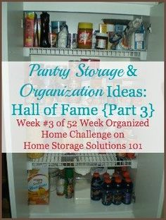 Pantry Storage Ideas With Before And After Pictures