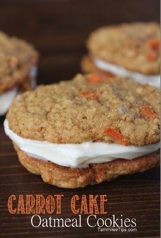 Carrot Cake Oatmeal Cookies Recipe