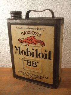 Bidon Gargoyle Mobiloil BB / Oil can