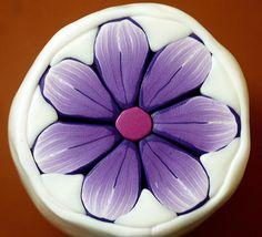 Purple Flower Cane
