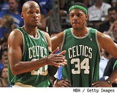 Ray Allen & Paul Pierce. Go Celtics!!! :)