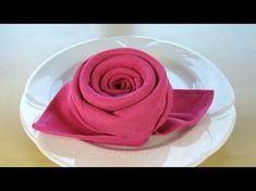 Piegare i Tovaglioli: Rosa / Fiore - Piegare tovaglioli di stoffa. Fai da te.