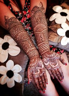 Full Hand Bridal Mehndi Design