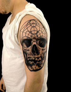 Skull with circles by Josh Payne