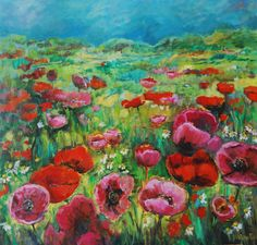 Fields of joy - lovely painting by Angeline van der Wal, and there is a lot more beautiful stuff on her site