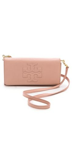 Tory Burch Thea E/W Clutch  Blush pink clutch