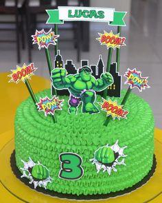 Hulk Birthday Cakes, Hulk Birthday Parties, Boys 1st Birthday Party Ideas, Geek Cake, Hulk Cakes, Bts Cake, Hulk Party, Avengers Birthday, Themed Cakes