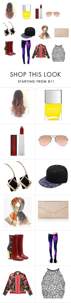 """""""Untitled #184"""" by mackenzie-marsinelli on Polyvore featuring Nails Inc., Maybelline, Ray-Ban, Chico's, Accessorize, Gucci and Keepsake the Label"""