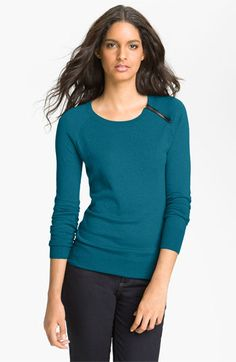 Halogen® Zip Shoulder Sweater available at Nordstrom70