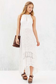Gypsy 05 Embroidered Tulip Maxi Dress - Urban Outfitters