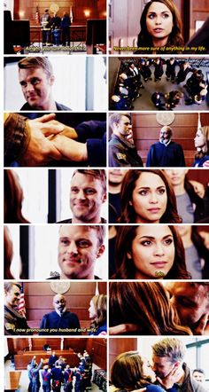 Judge: Alright, you sure about this? Dawson: Never been more sure of anything in my life. Casey: I do. Dawson: I do. Judge: I now pronounce you husband and wife. (5x08)