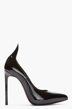 Saint Laurent Black patent heel tab Paris Pumps
