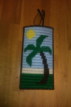 Palm Tree Beach Scene Glasses case by SpyderCrafts on Etsy, $5.00