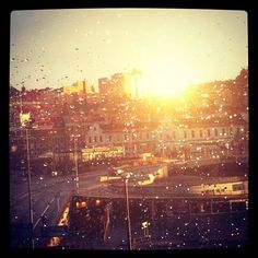 Sun after rain, in Stockholm.