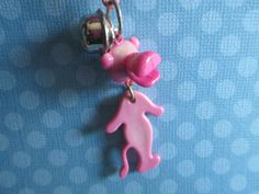1 NOS Vintage 80s TOOTHBRUSH Plastic Clip On Bell Charm for Necklace~PICK COLOR