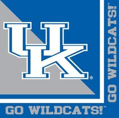 Creative Converting Kentucky Wildcats Luncheon Napkins (20 Count) by Creative Converting. $5.62. See Creative Converting's coordinating line of party favors and dinnerware - inflatable fingers, wrist bands, head bands, pom poms, cheer sticks, cups, plates, napkins, chip trays and décor. The perfect supplies for your tailgating, Bowl game or sports themed party - show your team spirit and pride. Collegiate NCAA team logo luncheon napkins. 20 count. Measures 6.5 x 6....