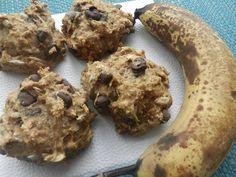 AhhhBananahhh! (galette banane, tourneseol et chocolat noir) Breakfast Snacks, Breakfast Recipes, Veggie Recipes, Cookie Recipes, Gluten Free Cookies, Nom Original, No Bake Desserts, Biscuits, Healthy Snacks