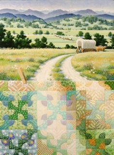 Rebecca Barker Quiltscapes - Jigsaw puzzle design. Mommy did this one. Would like it blown up and framed above her bed.