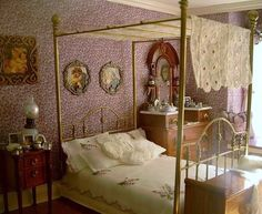 miniature bedroom by Mary Payne
