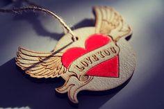 accessory for car LOVE YOU от WorkshopLastochka на Etsy