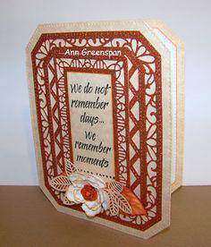 Ann Greenspan's Crafts: Glittery Ornate Pierced Rectangle Card