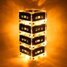 This is AMAZING!  - Yellow Mixtape Light Cassette Tape Lamp  $79.00, via Etsy.