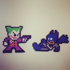 Batman and Jocker perler bead wall art by customations_art