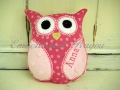 Personalized Stuffed Owl Soft and Plush Toy for Baby or Dog on Etsy, $12.00