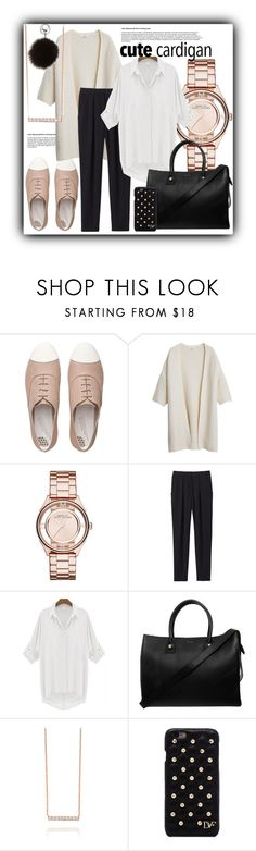 """#910@"" by elena-gienko ❤ liked on Polyvore featuring FitFlop, MANGO, Marc Jacobs, Rebecca Taylor, Paul & Joe, Diane Von Furstenberg, Adrienne Landau, cardigan and autumnstyle"