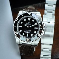 Everest Leather replacement watch band for Rolex Submariner