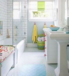 Wall color for hall bath, hooks for towels