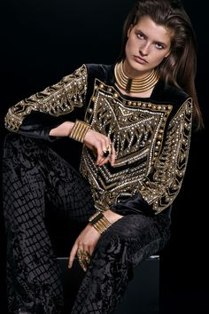 21dd6230 13 Best Balmain for H&M images | H&m collaboration, Balmain ...