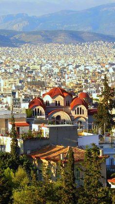 640x1136 Wallpaper athens, greece, city, building