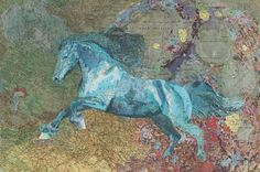 Map art collages by Matthew Cusick