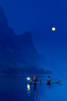 Fisherman of moonlight -  Li River, Guilin, CHina
