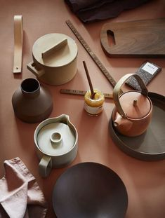 Chromologist mood board - Earth colours - The Chromologist-from Dagny Fargestudio #ceramics #tableware