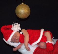 Crochet santa girl costume on Etsy, $25.00