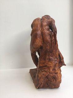 "David J Mitchell 'Figure Reaching Downward' Ceramic Sculpture (14"" High)"